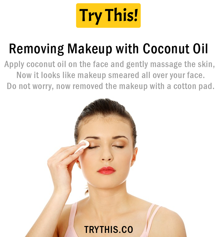 Removing Makeup with Coconut Oil