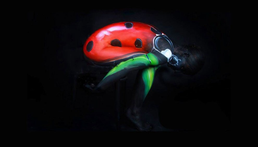 Beetle Body-Paintings
