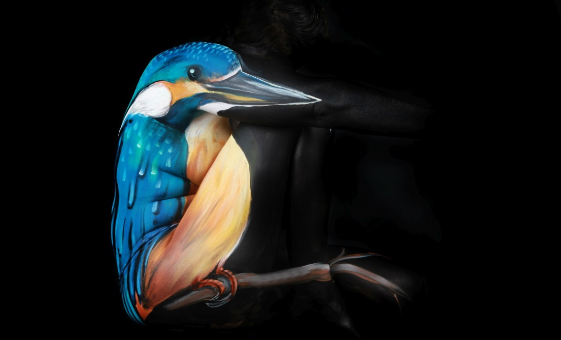 Bird Body-Paintings