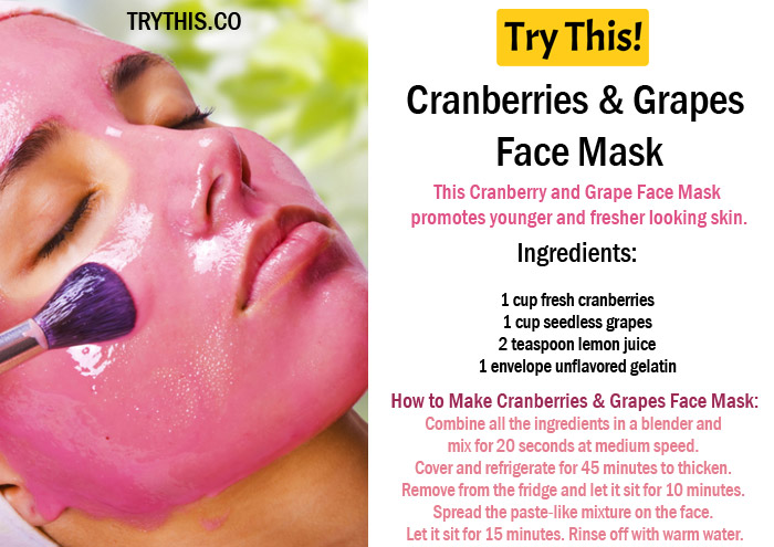 Cranberries & Grapes Face Mask