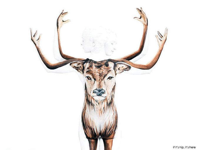 Deer Body-Paintings