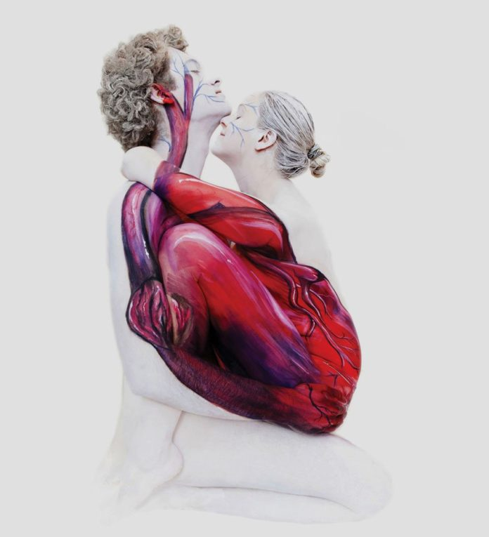 Human Heart Body-Paintings