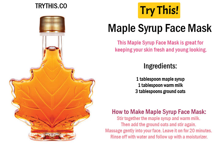 Maple Syrup Face Mask