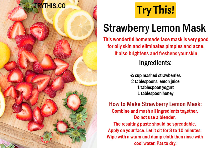 Strawberry Lemon Mask
