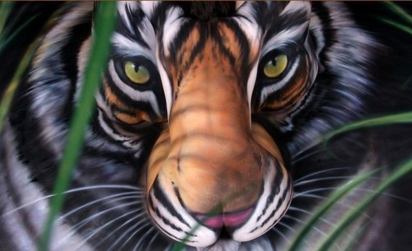 Tiger Body-Paintings