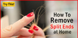 How To Remove Split Ends at Home