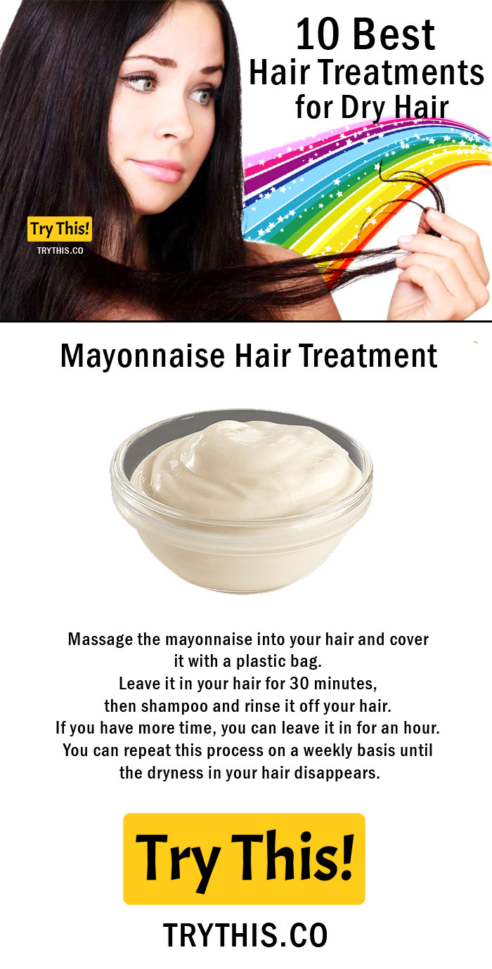 Mayonnaise Hair Treatment For Dry Hair