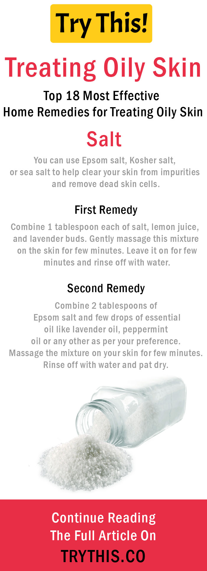 Home Remedies for Treating Oily Skin - Salt