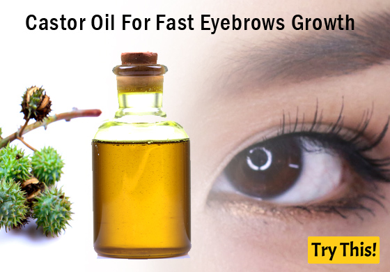 Castor Oil For Fast Eyebrows Growth