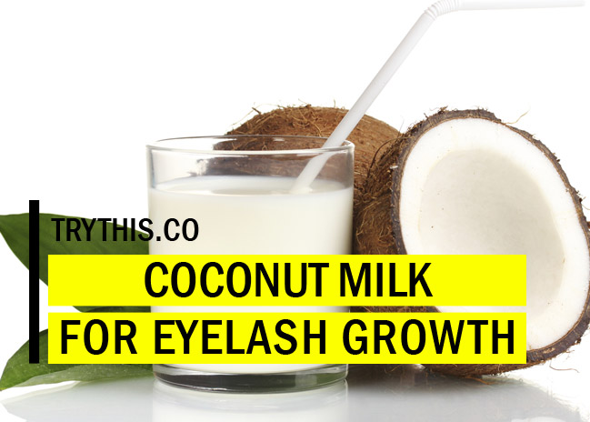 Coconut Milk for Thicker and Longer Lashes