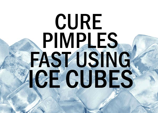 Ice Cubes are Effective for Use against Pimples