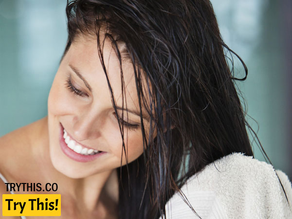 Preparation of Straight Hair in the Shower