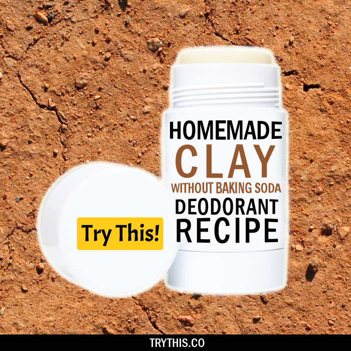 Homemade Clay Deodorant Recipe Without The Use of Baking soda