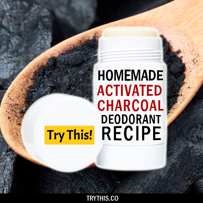 Homemade Deodorant with Activated Charcoal