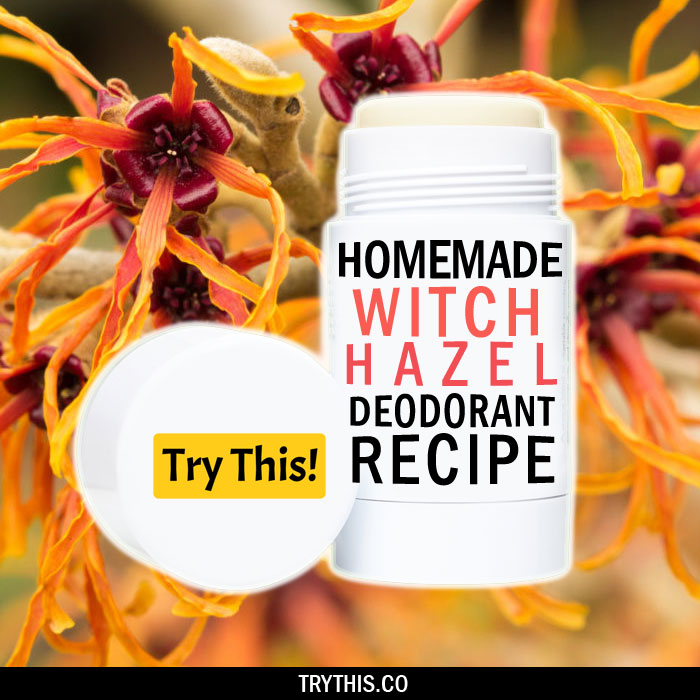 Roll on Homemade Deodorant Using Witch Hazel and Glycerin